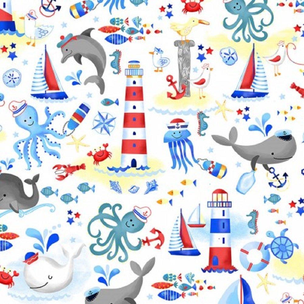Whale Hello! Gail-C7262-White
