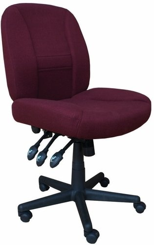 Horn Sewing Chair 16090C.66 Burgundy With Black Base