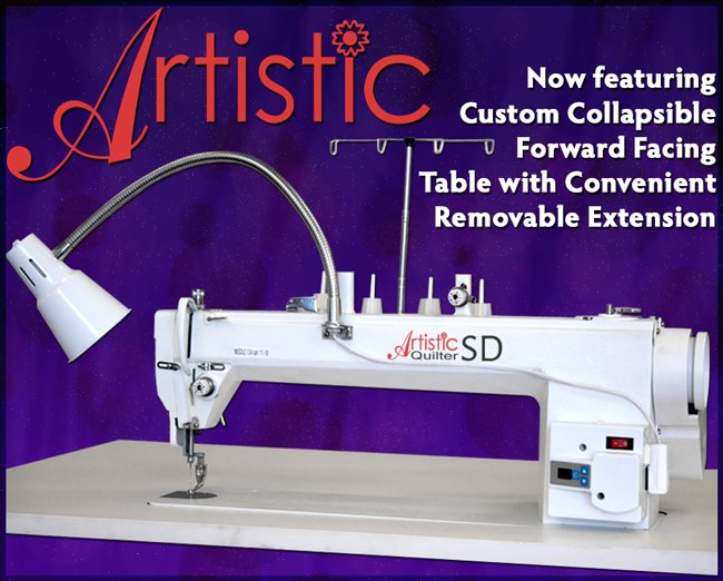 Used Artistic Sit-Down Quilter w/ Table & leaf
