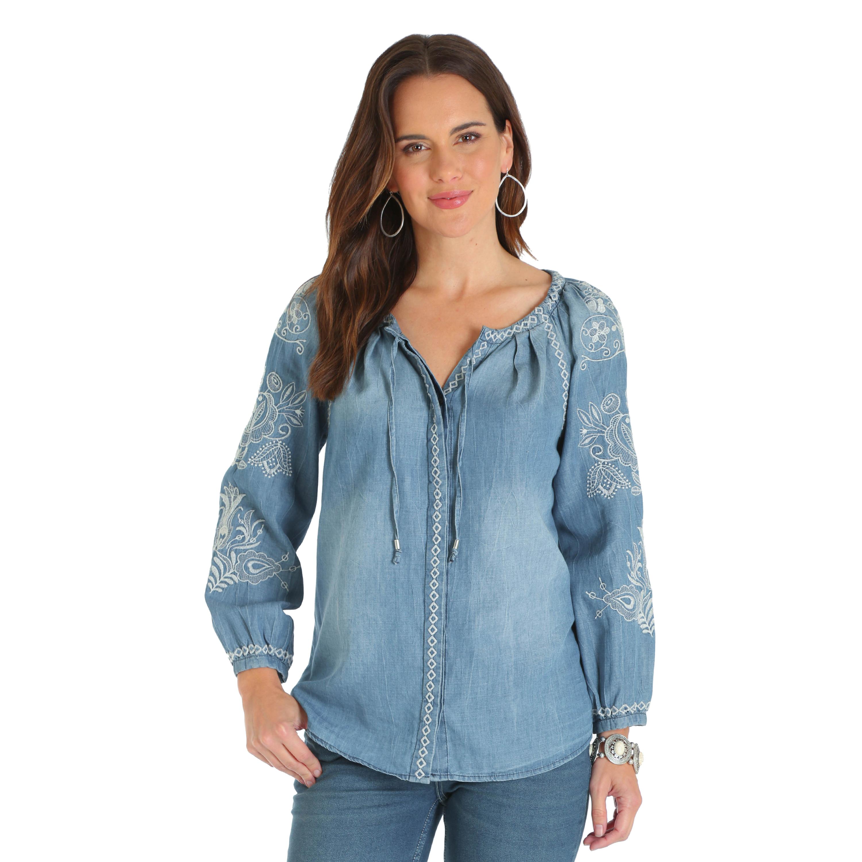 Wrangler Ladies Chambray Shirt 419