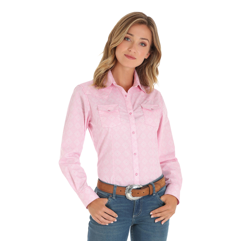 Wrangler Ladies Tough Enough To Wear Pink Shirt
