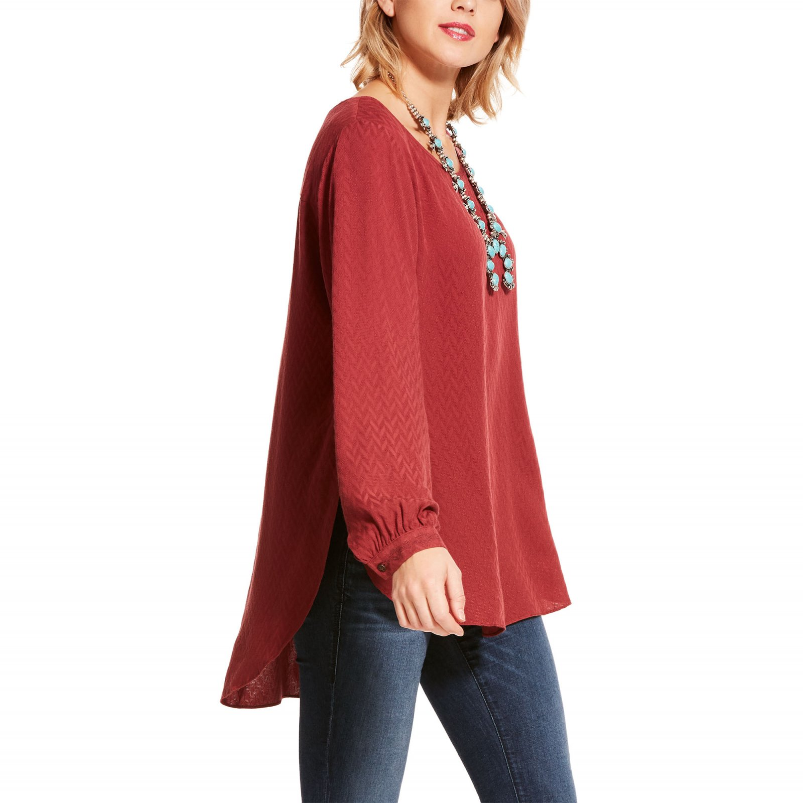 Ladies Ariat Lite As A Feather Tunic Ruby Stone 1019II
