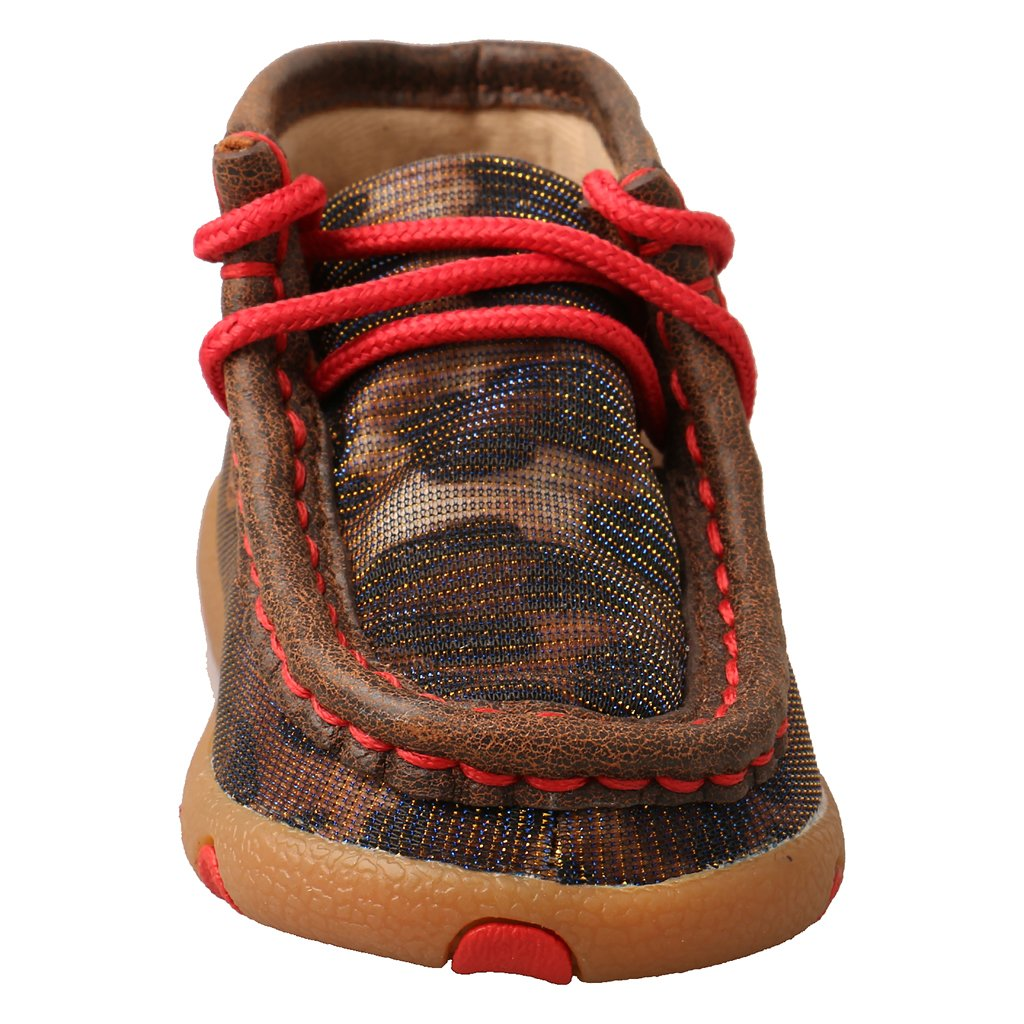 Twisted X Infant Driving Moc Shiny Leopard/Red 0120