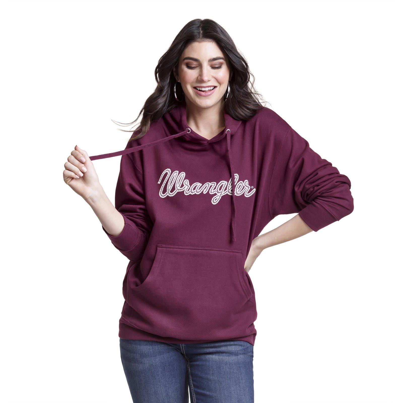 Wrangler Ladies Hoodie Maroon 11/19