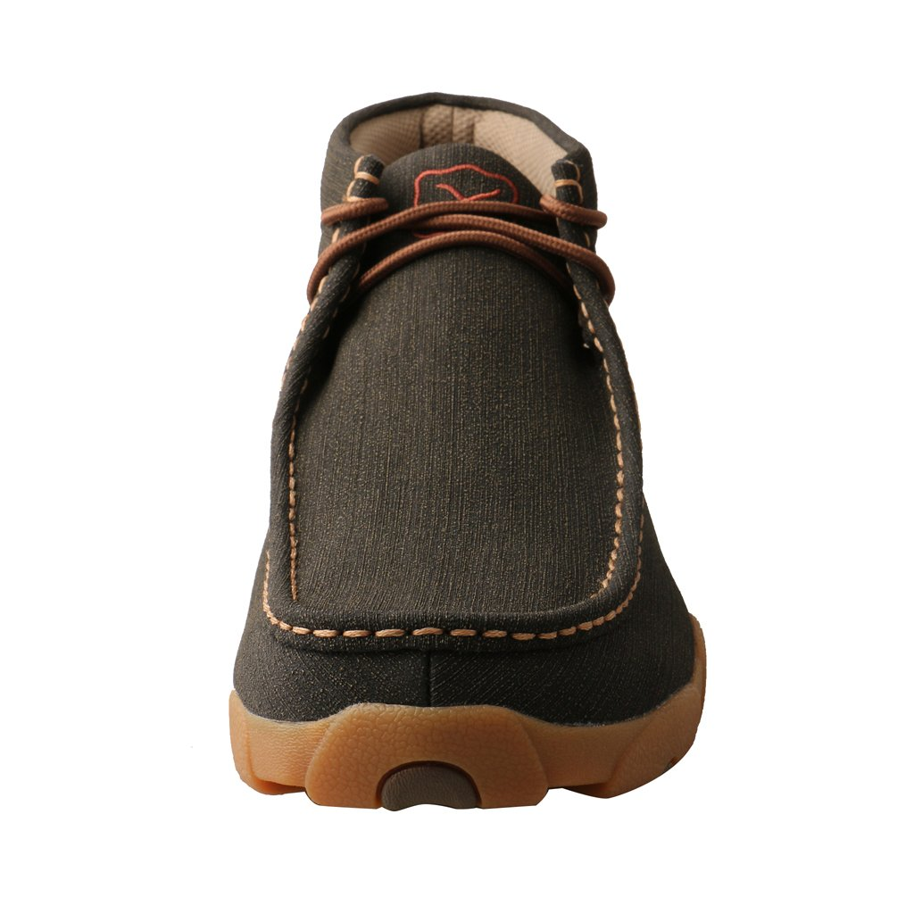 Twisted X MDM0080 Chukka Driving Moc Rubberized Brown 0220