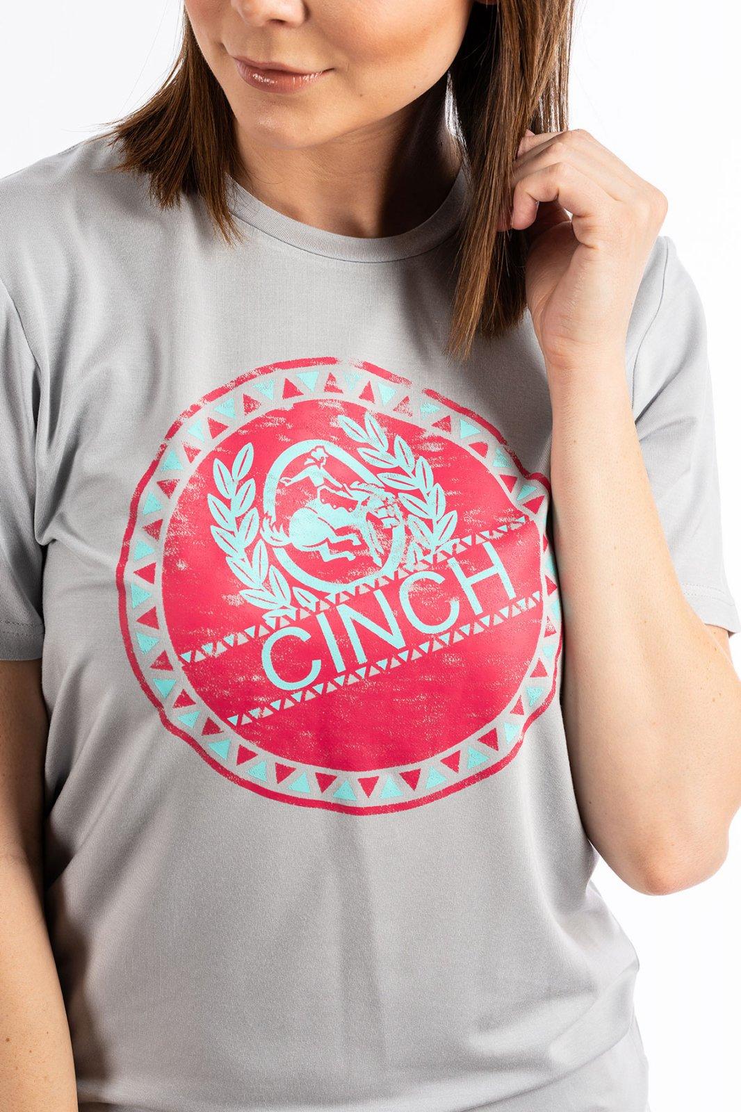 Cinch Ladies TShirt GRY 519