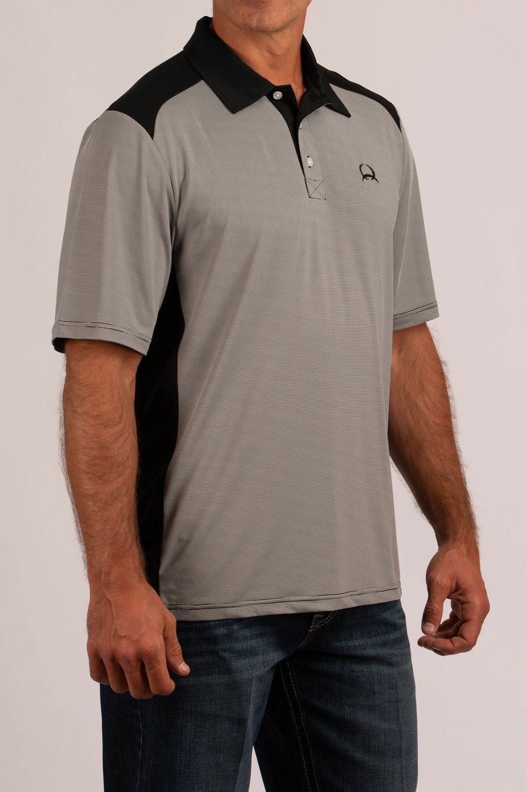 Cinch Men's SS  Polo Arena Flex Black 0519