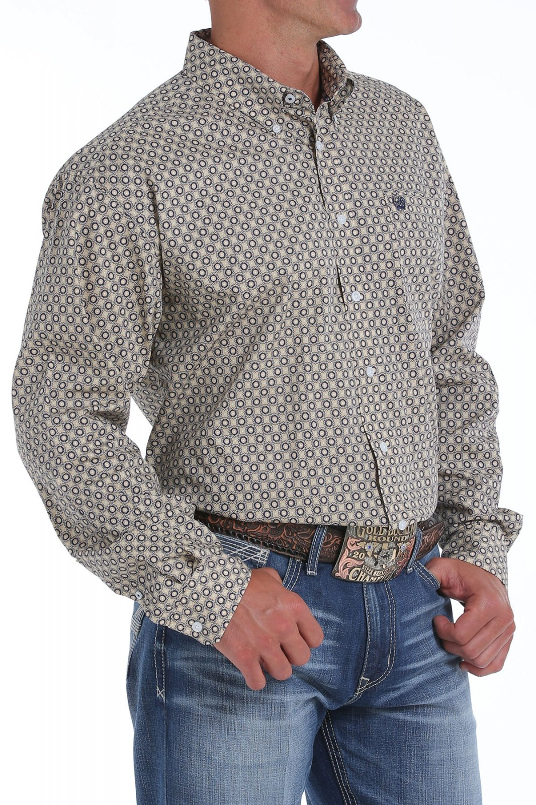 Cinch Men's LS Shirt Khaki 519