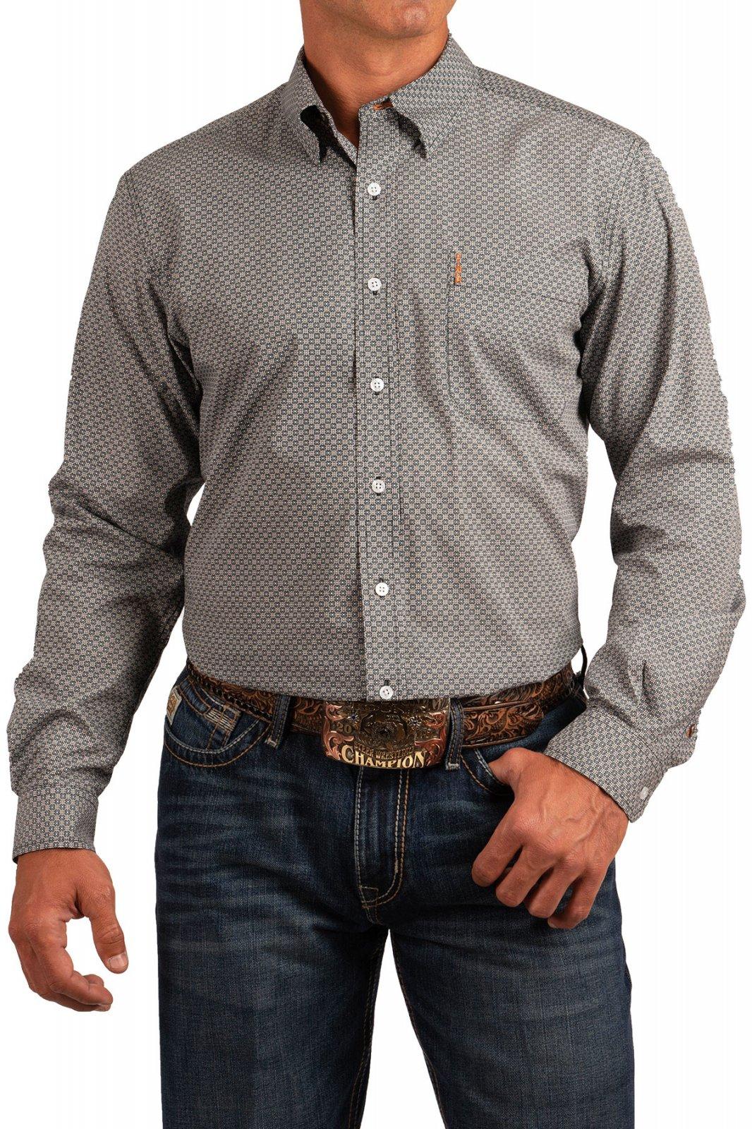 Cinch Men's LS Modern Fit Shirt Multi 619