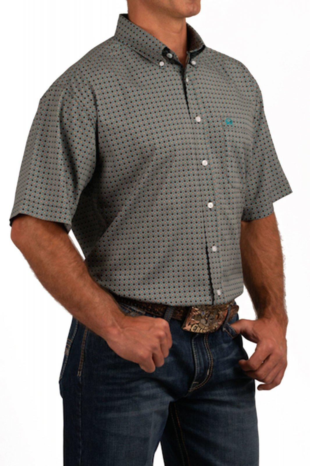 Cinch Men's SS Arena Flex Shirt Brown 519