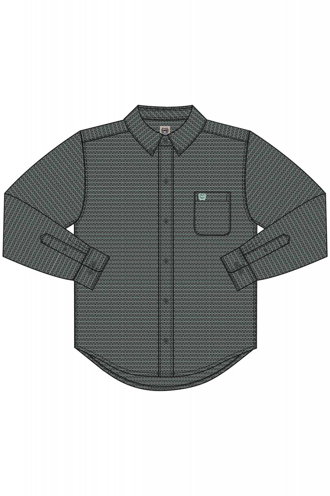Boy's Cinch LS Cotton/Spandex Shirt Grey