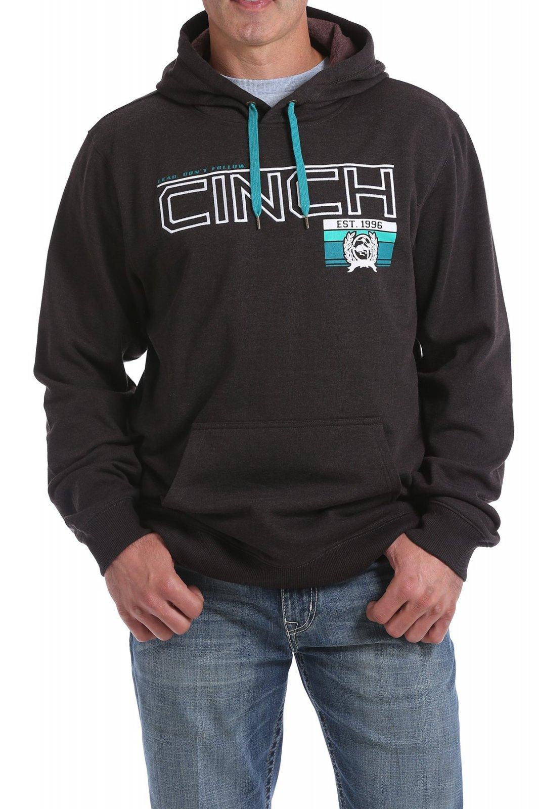 Cinch Men's Fleece Hoodie Heather Brown 1019