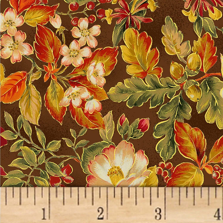 Oasis - Sentimental Floral w/Metallic Brown