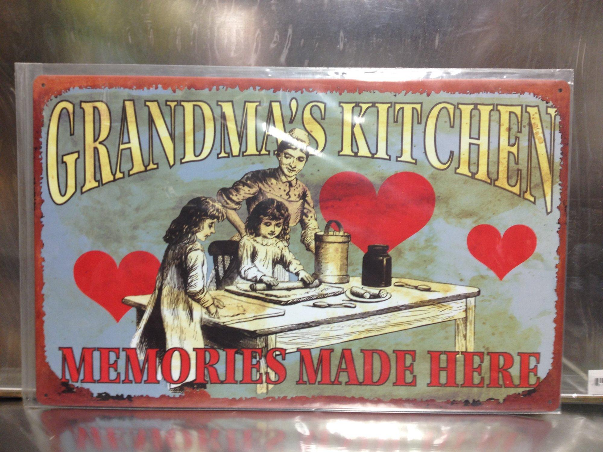 TIN SIGN # Grandma Kitchen Memories