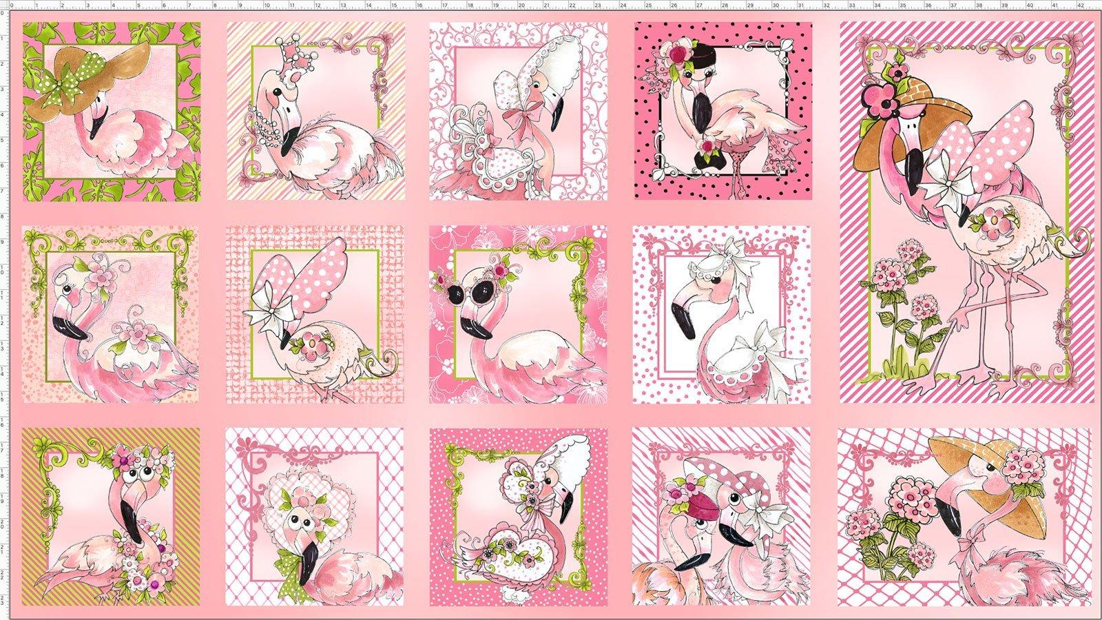 Flamingo Pink Fabric Panel