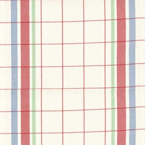 16 Vintage Toweling Fabric - Bright Plaid