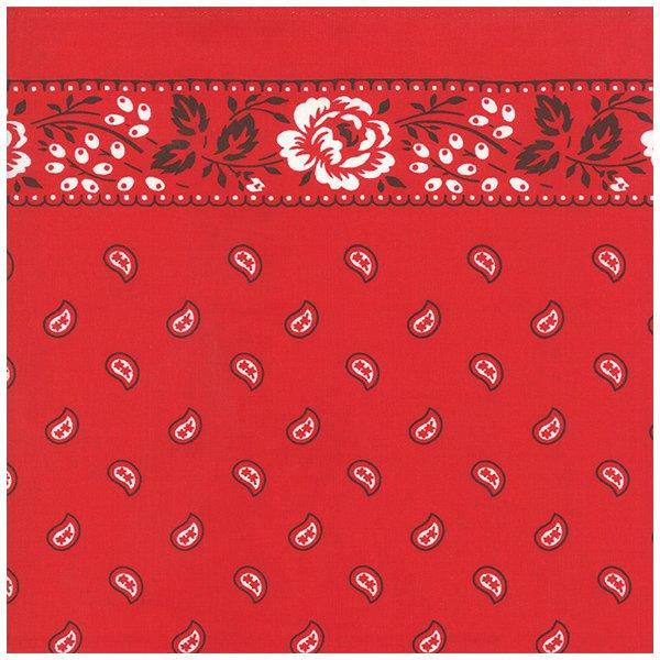 16 Bandana Toweling - Red