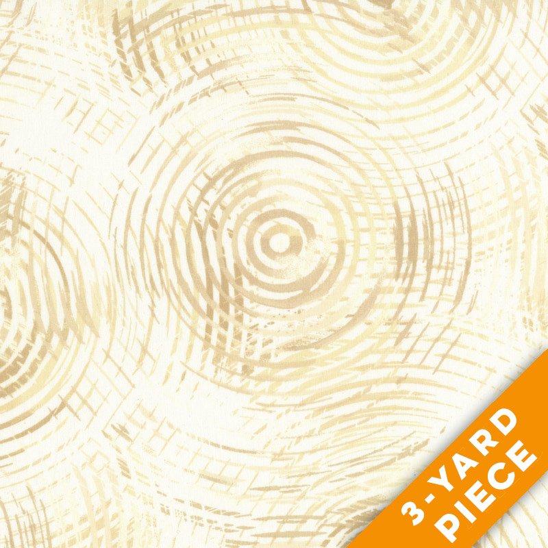 Henry Glass Circle Play  Cream  PRECUT 3-YARD PIECE