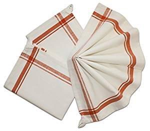 Retro Stripe Towels - Orange