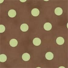 54 Dottie Fabric - Brown w/ Celery