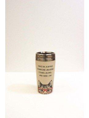 Cool Cat Travel Mug W/Lid