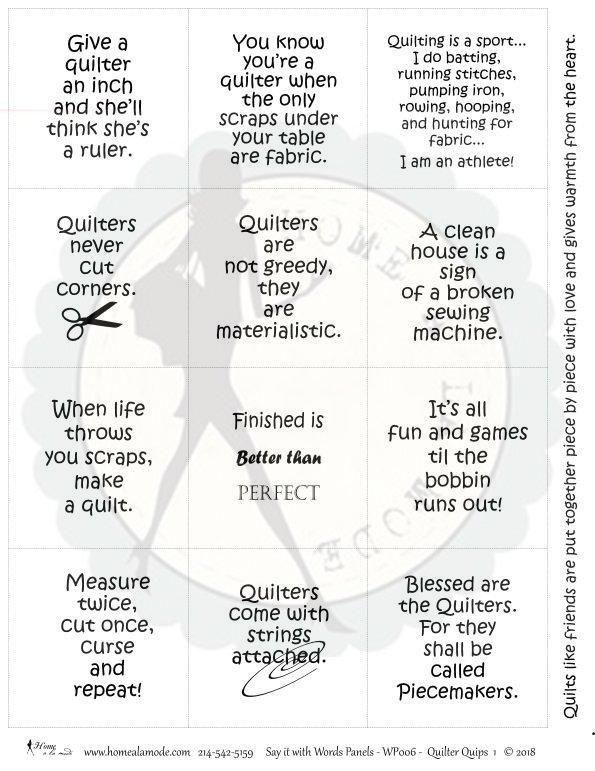 Quilters Quips