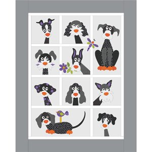Dog Park Applique Quilt DOTZ Kit