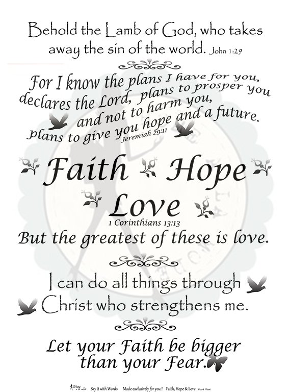 Faith Hope Love Full Panel