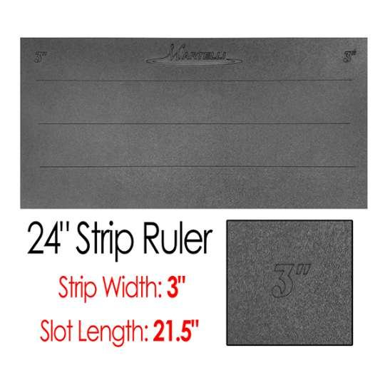 24 Strip Ruler with 3 Wide Strips