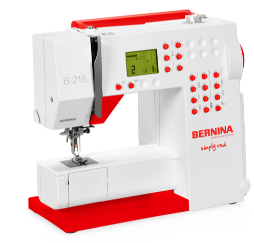 Bernina 215 Simply Red Sewing Machine - In Store Sales Only