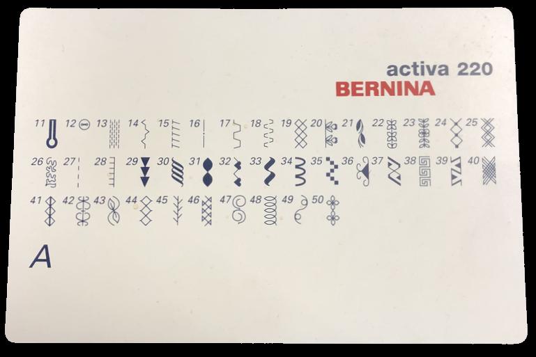 Activa 220 Stitch Card
