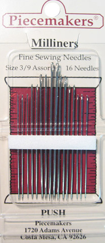 Milliners Needles Size 3/9 Assorted 16Pk