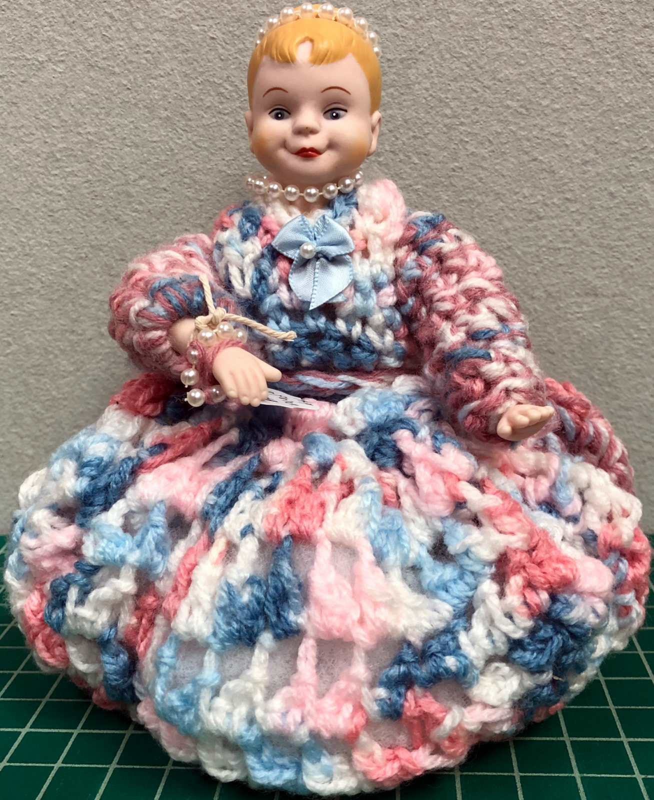 Pink & Blue Pin Cushion Doll