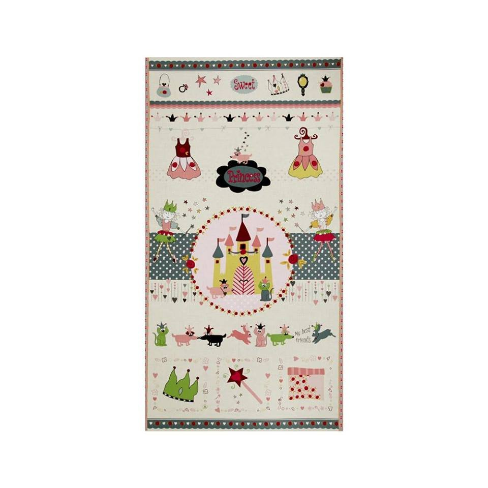 Sweet Princess Panel gray