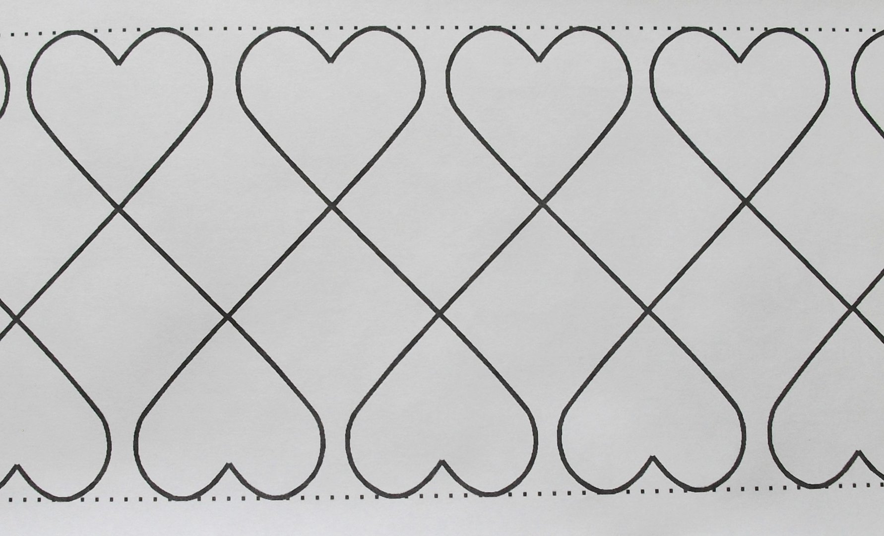 Long Arm Quilting - CRIB HEARTS 37S