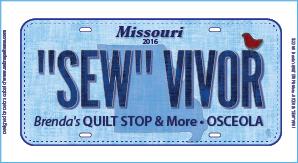 2016 RXR License Plate SEWVIVOR