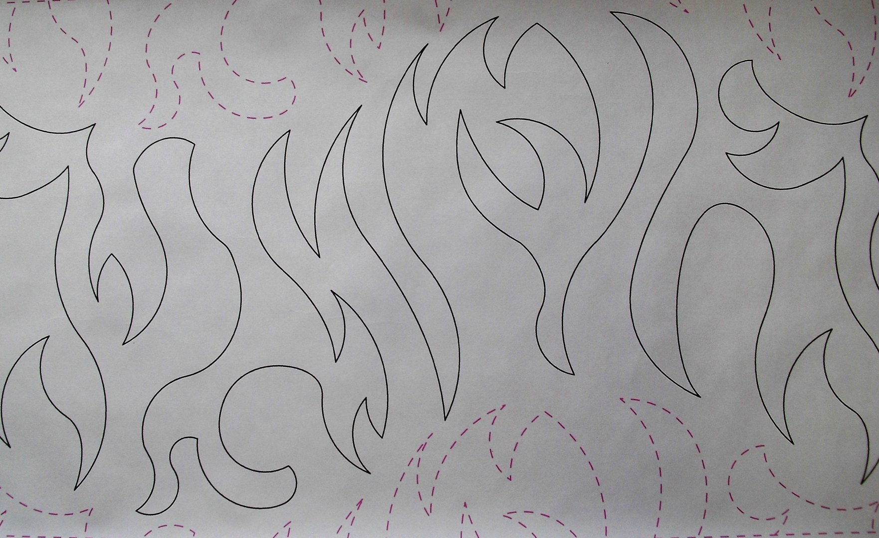 Long Arm Quilting - FLAMES 11RR