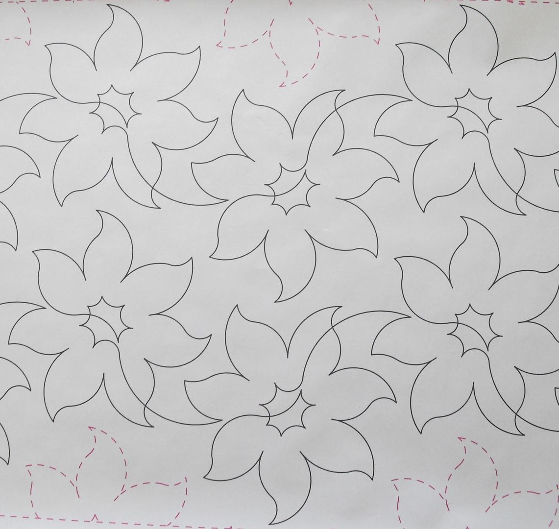 Long Arm Quilting - LORIEN FLOWER 19B