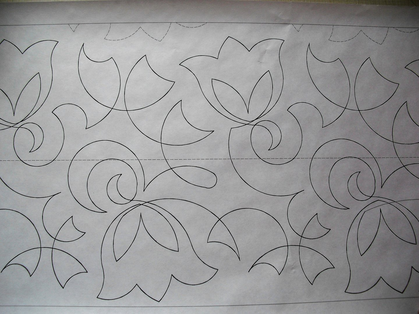 Long Arm Quilting - BELL FLOWER 1F