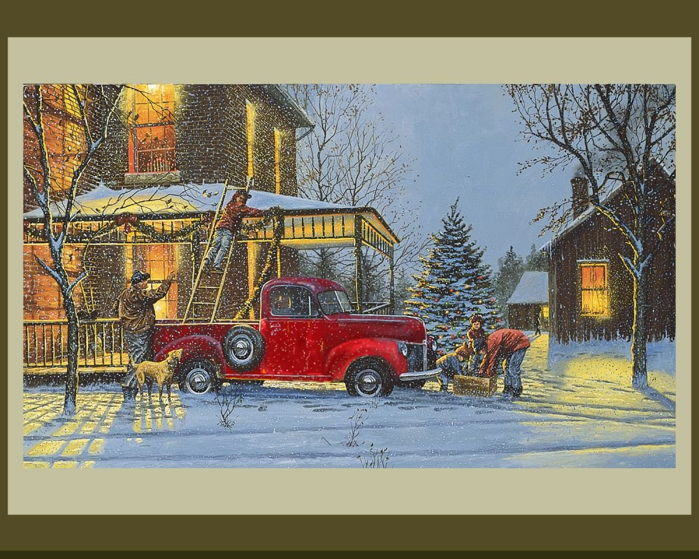 An Old Fashioned Christmas Panel