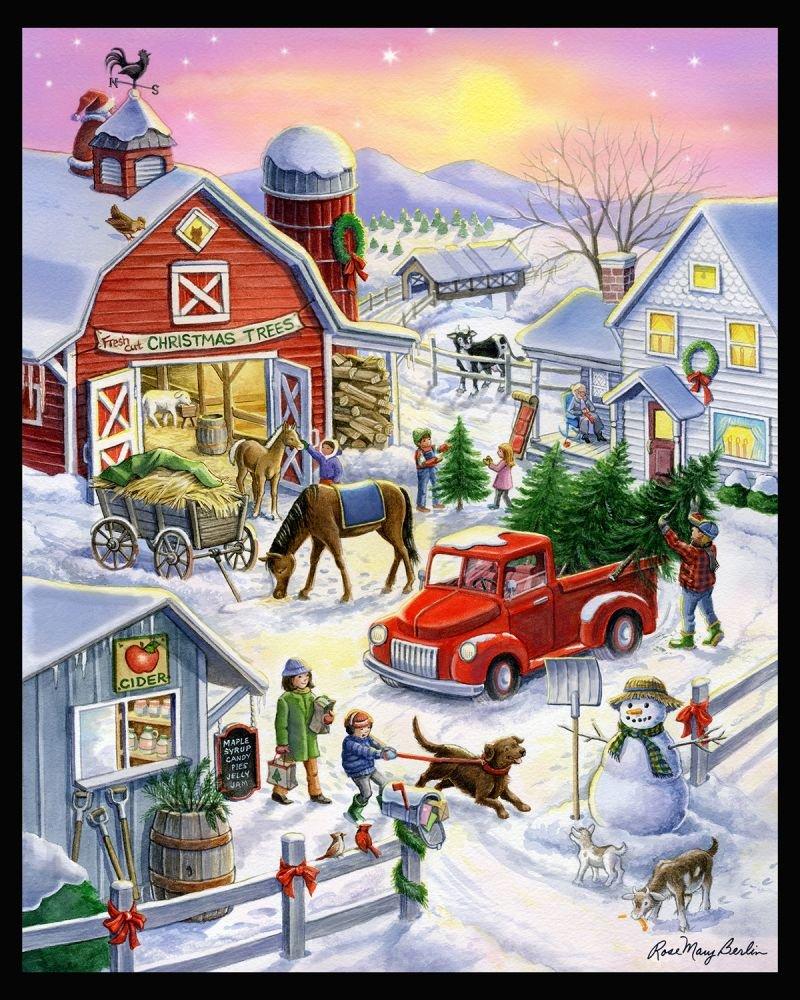 Christmas Tree Farm Panel