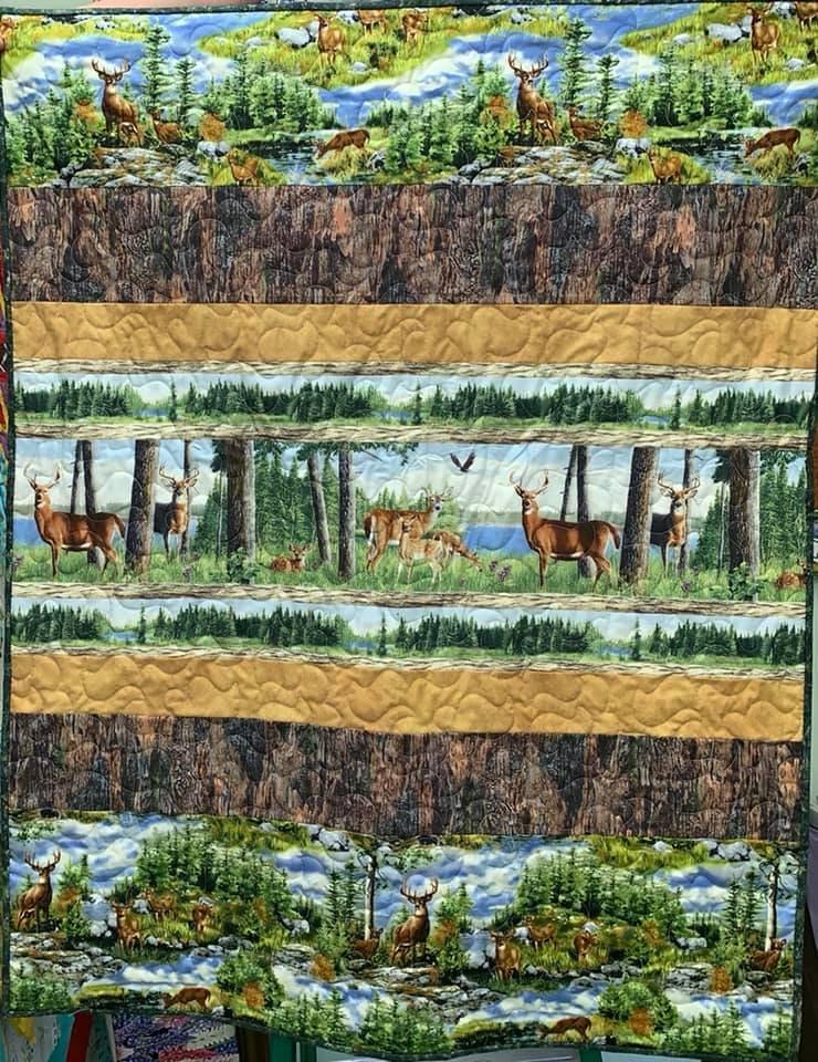 Quilt Rows in Deer