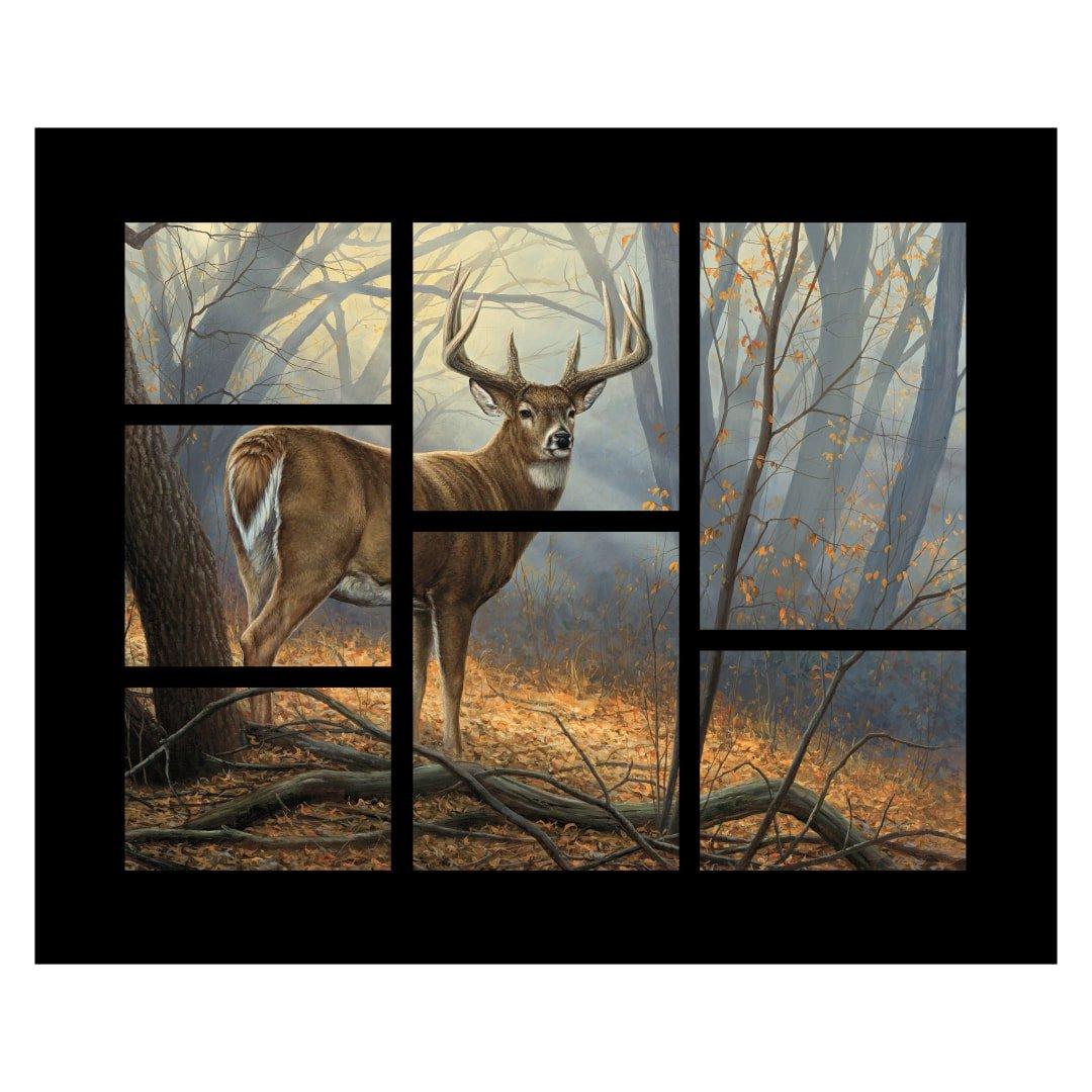 Deer (7 window pane) Panel