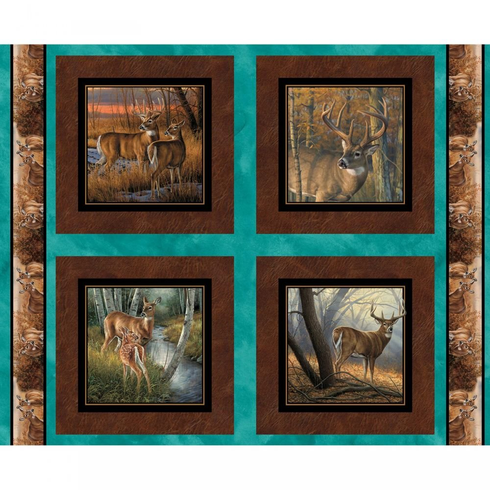 Deer Pillow Panel