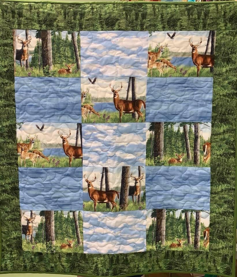 Quilt Deer / Sky