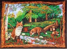 Fox Love Wallhanging Panel
