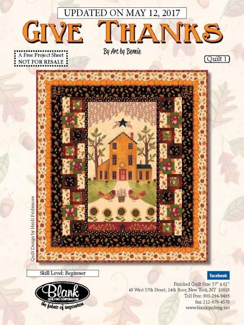 Give Thanks Quilt Kit