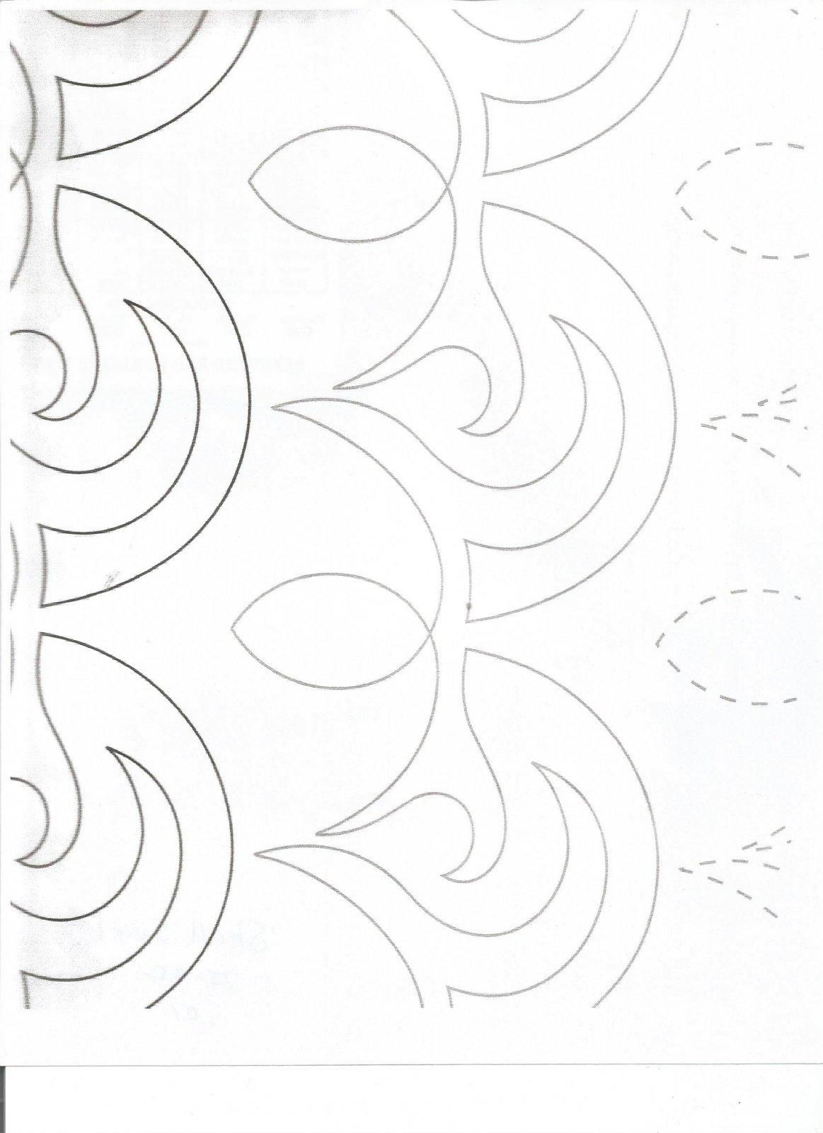 Long Arm Quilting - SHELL SWIRL 75CC