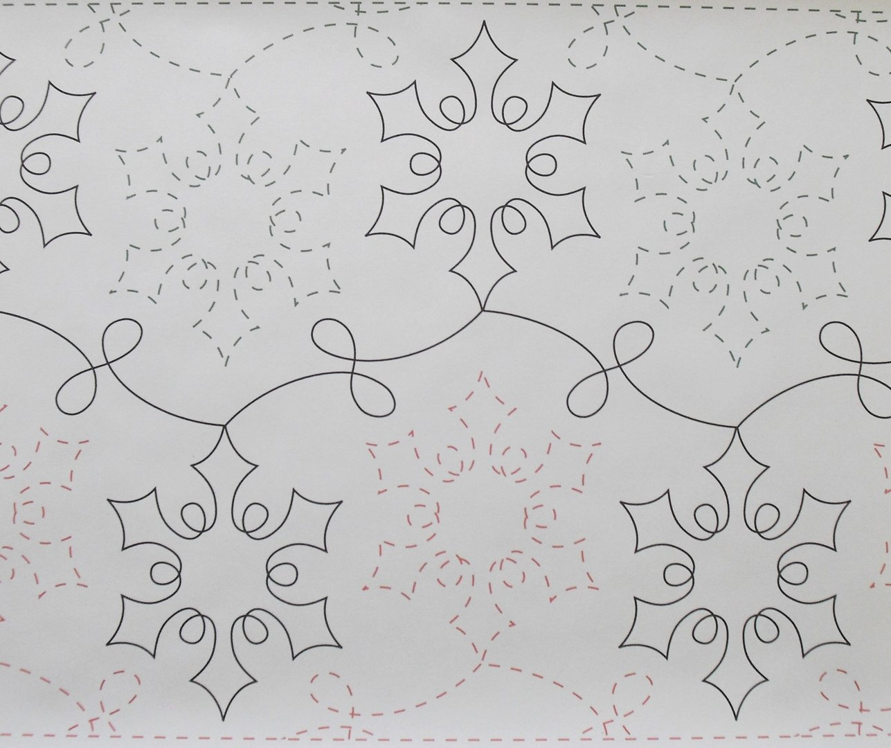 Long Arm Quilting - SNAZZY SNOWFLAKE 61G