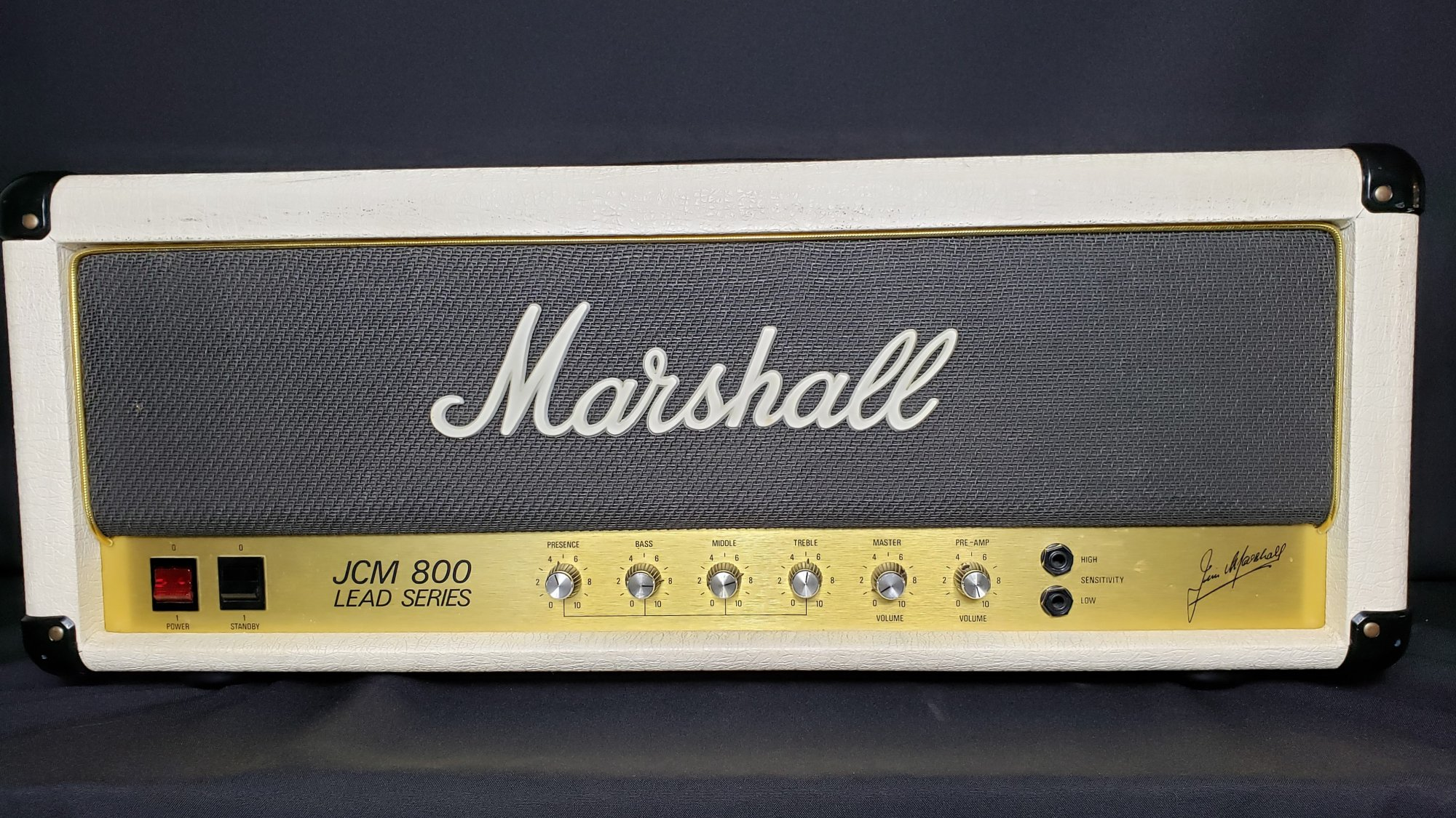 Marshall JCM 800 MK II Lead 2204 20th Anniversary Edition Head w/Matching 4x12 (1983)